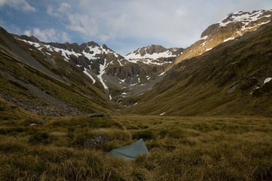 Bottom of Waiau Pass in New Zealand